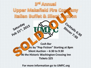 UMFC Italian Buffet Flyers 2015 Sold Out