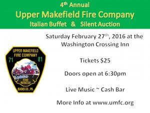UMFC Italian Buffet Flyer 2016